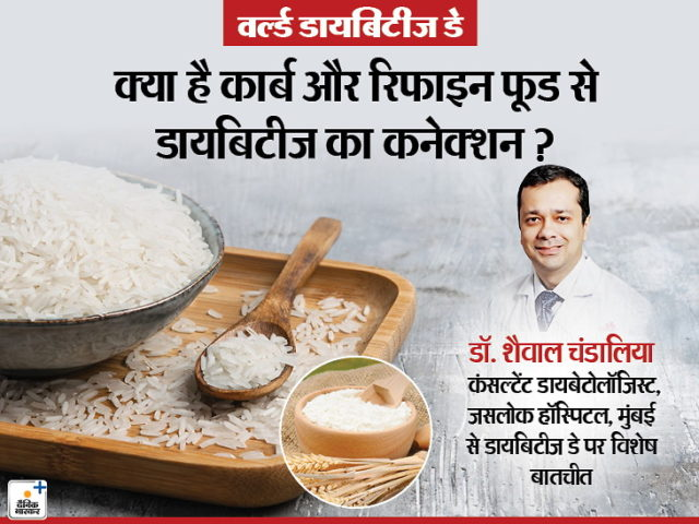 Healthy life news in hindi: world diabetes day 2019 how refined food and junk  food cause diabetes | Flour and rice increase the risk of diabetes, taking  raw vegetables and fruits in